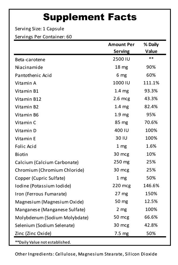 Prenatal Supplement Facts