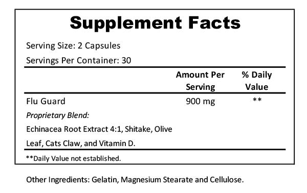 flu guard supplement facts