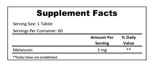 melatonin 5mg cherry supplement facts