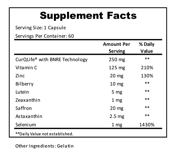 vision formula supplement facts